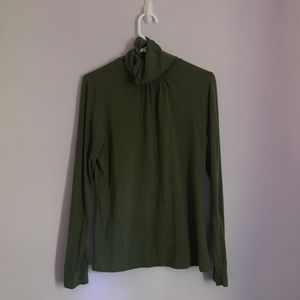 Lands' End Green Turtle Neck Shirt